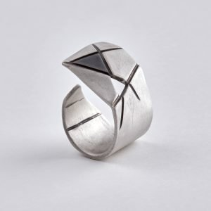 Greek contemporary silver ring Guardian by Austri Crux