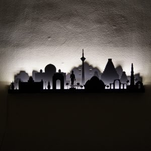 City wall art light