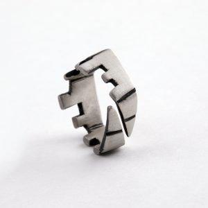 Δαχτυλίδι μοντέρνο από ασήμι