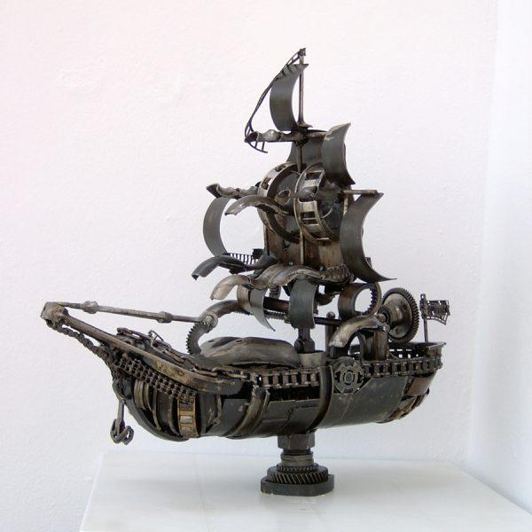 marine art ship boat sculpture