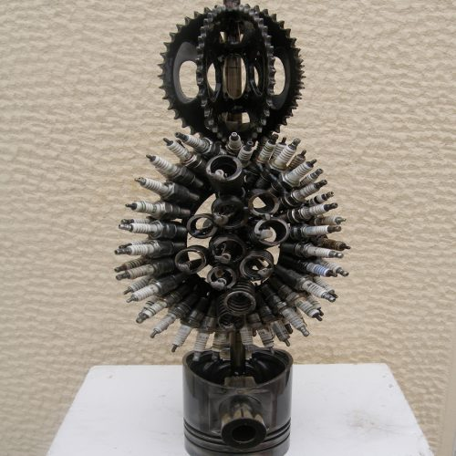 Steampunk art sculpture abstract marine art