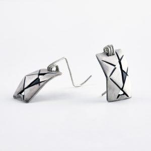 Πρωτότυπα χειροποίητα σκουλαρίκια από ασήμι