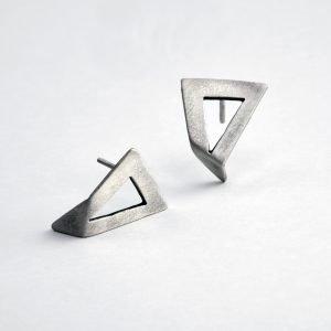 Greek handmade silver earrings