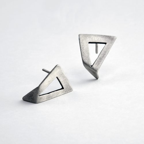 Greek handmade silver earrings