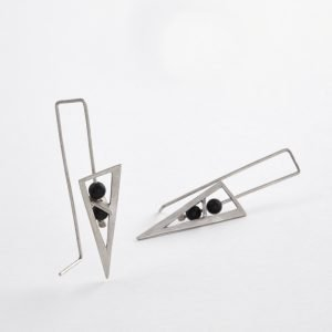 Ασημένια σκουλαρίκια χειροποίητα Twin blades