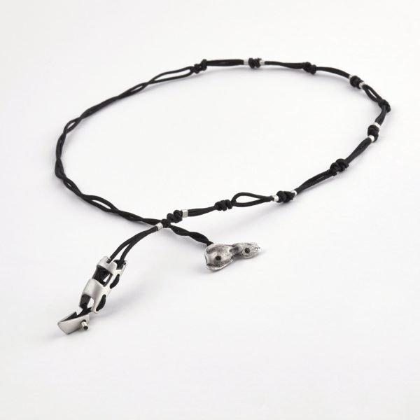 Modern silver necklace