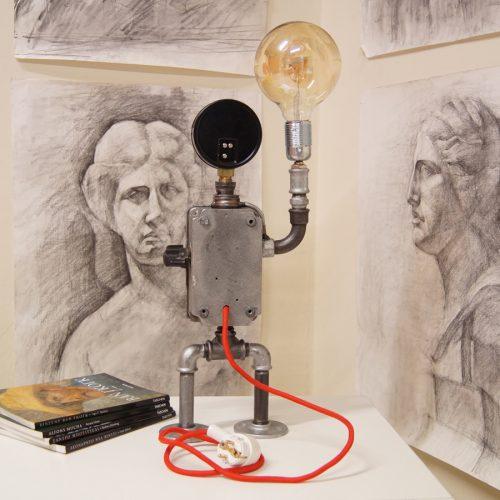 Vintage desk lamp robot