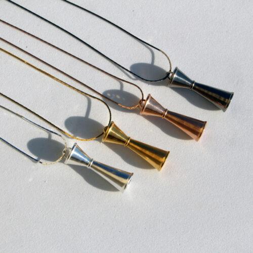 cocktail jigger men's pendant