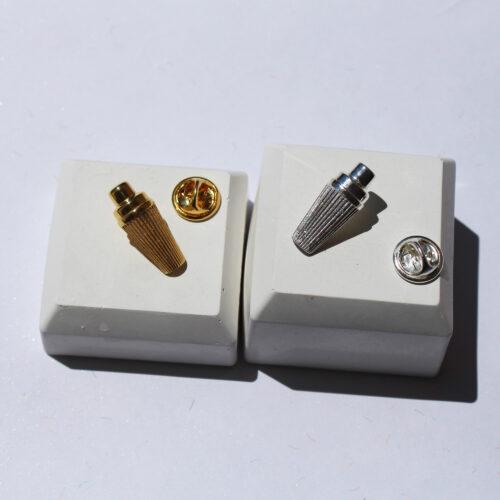Bar art jewelry pin