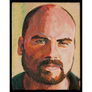 man portait oil painting