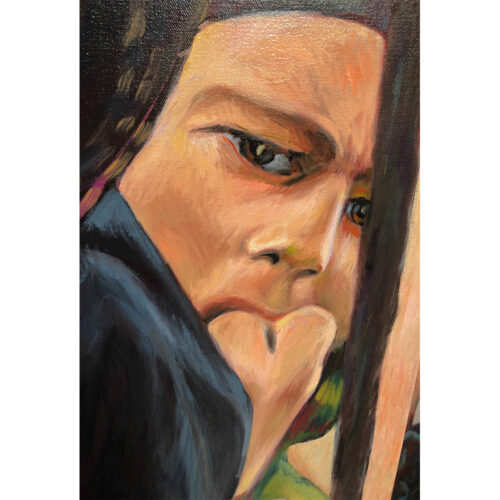 oil painting refugee