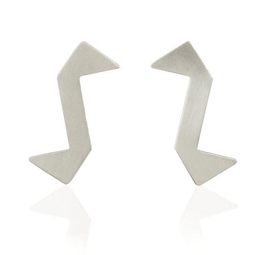 Statement silver stud earrings