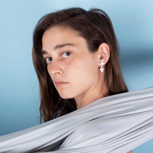 Unique geometric ear jackets