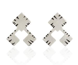 unique silver stud earrings